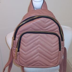 Mini mauve backpack